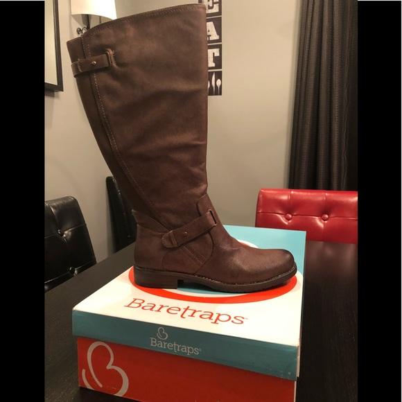 67449a08493f5 Baretraps Shoes | Bare Traps Brown Boot 8 Wide Calf Clary 2 | Poshmark
